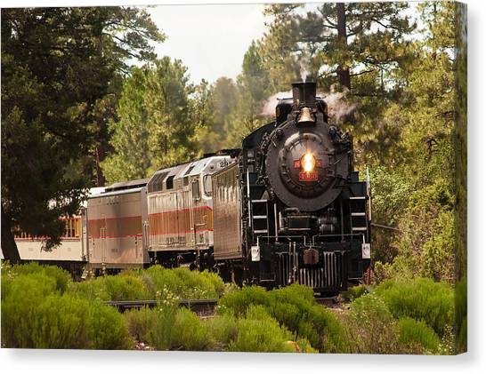 Oncoming Train Canvas Print