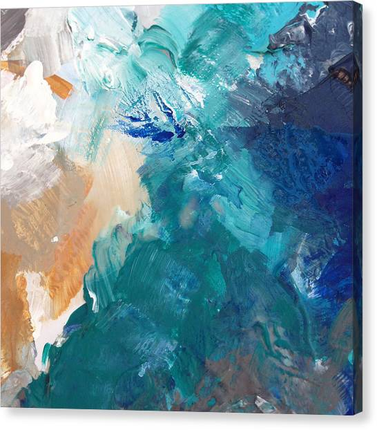 Iphone Case Canvas Print - On A Summer Breeze- Contemporary Abstract Art by Linda Woods