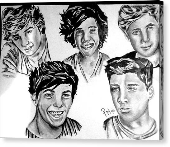 One Direction Canvas Print - One Direction by Pauline Murphy