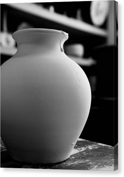 One Earthenware Jug  Canvas Print