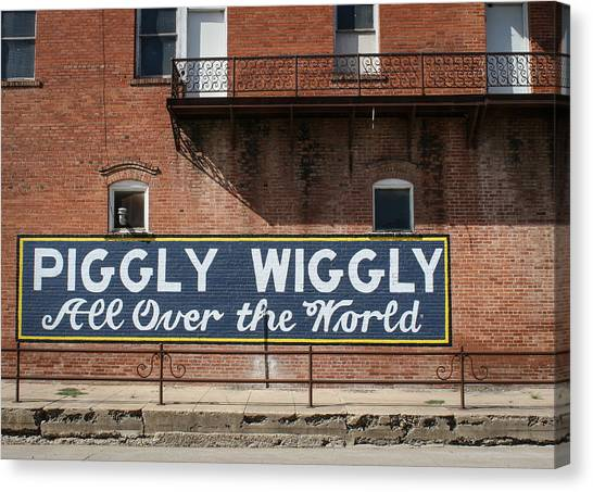 One Famous Pig Canvas Print