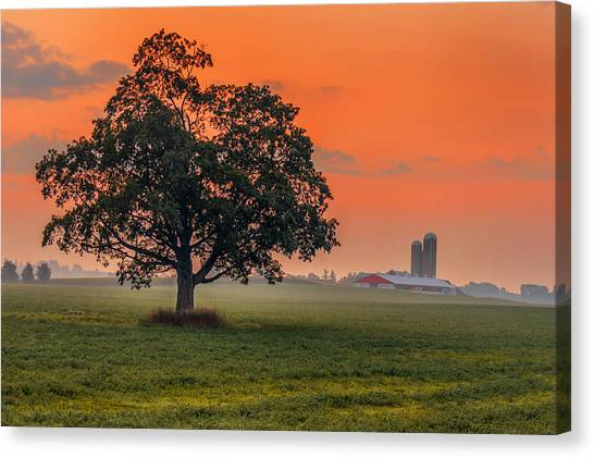 Canvas Print featuring the photograph One Fine Morning by Garvin Hunter
