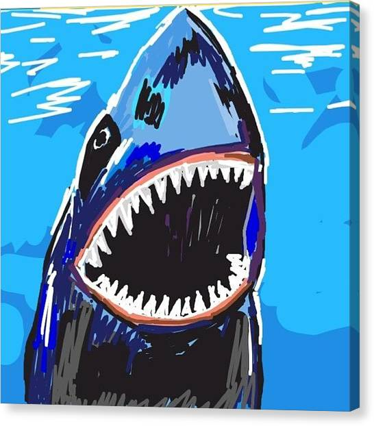 Jaws Canvas Print - One From The Archives... Not Like My by Michelle Cronin