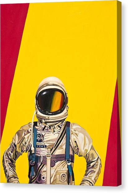 Astronauts Canvas Print - One Golden Arch by Scott Listfield
