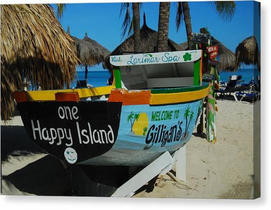 One Happy Island Canvas Print