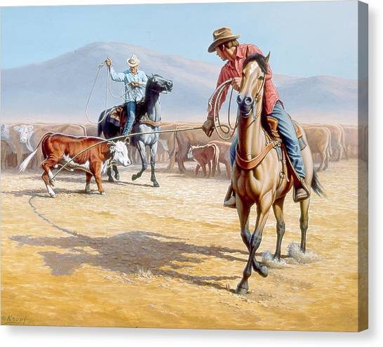Cowboys Canvas Print - One Heel by Paul Krapf
