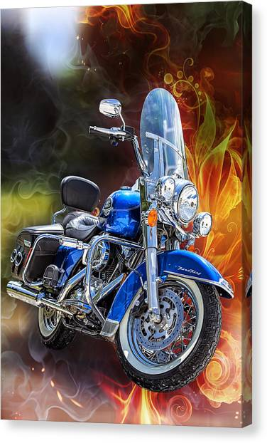 Choppers Canvas Print - One Hell Of A Ride by Bill Tiepelman