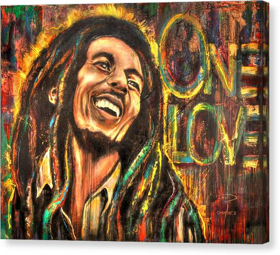 Bob Marley - One Love Canvas Print