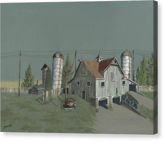 Barns Canvas Print - One Man's Castle by John Wyckoff