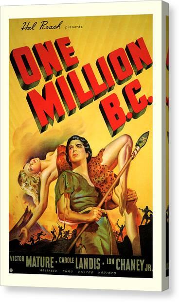 One Million Bc 1940 Canvas Print
