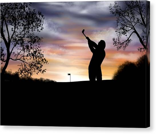 One More Hole - A Late Round Of Golf Canvas Print