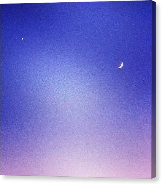 Venus Canvas Print - One More Of The #moon And #venus #space by Eric Fines