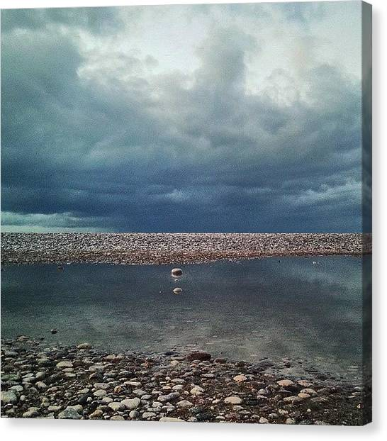 Rainclouds Canvas Print - One More  #puddle  #reflection  From by Alexandra Cook