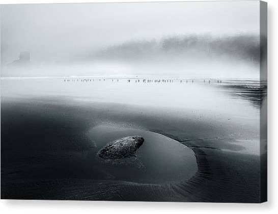Pacific Canvas Print - One Morning... by Dani Bs.