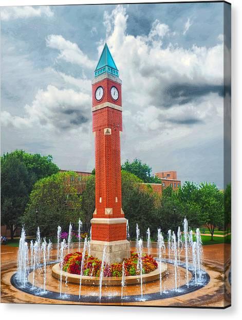 Saint Louis University Canvas Print - One O'clock Again by C H Apperson
