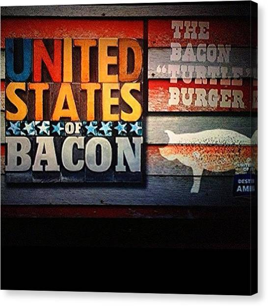 Bacon Canvas Print - One Of My Favorite Shows!! by Jim Neeley