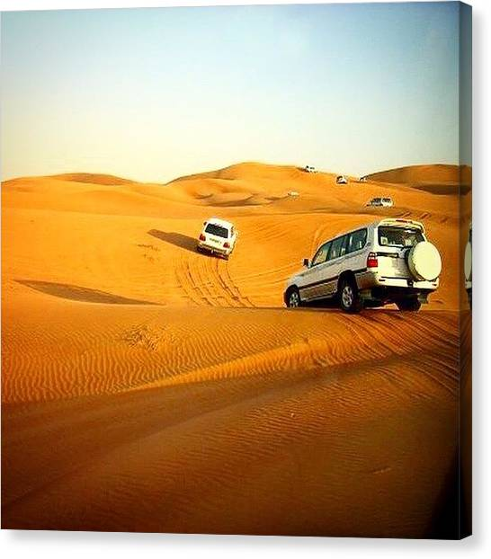 Offroading Canvas Print - One Of My Older Images From Dubai by Adrian Lindley