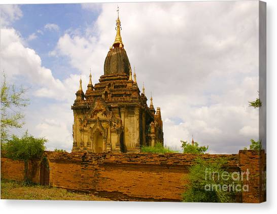 One Of The Countless Buddhist Pagodas In Bagan Burma Canvas Print by PIXELS  XPOSED Ralph A Ledergerber Photography