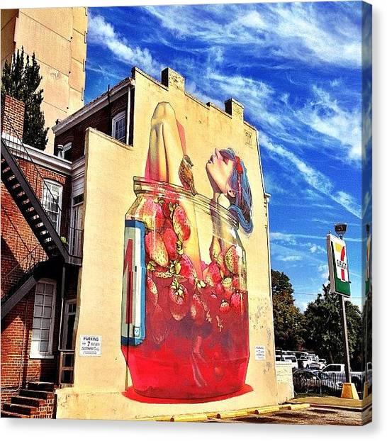 Bands Canvas Print - One Of The New #rva Murals. Closest One by Clifford Drake