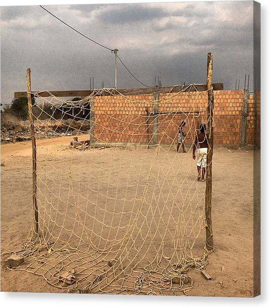 Goal Canvas Print - One On One. Bahia Style. #futbol by David John Weihs