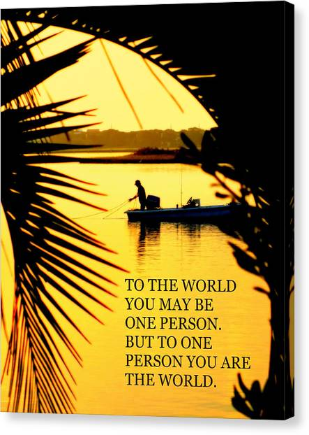 John Boats Canvas Print - One Person by Karen Wiles