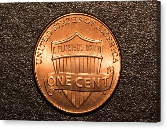 One Red Cent Canvas Print by S Cass Alston