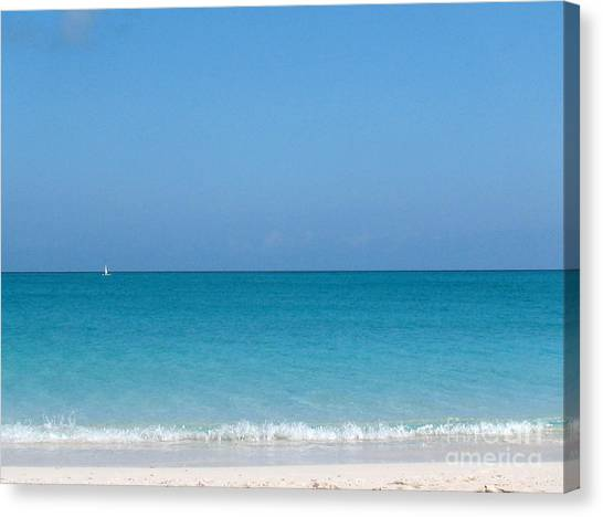 Canvas Print featuring the photograph Grace Bay by Patti Whitten