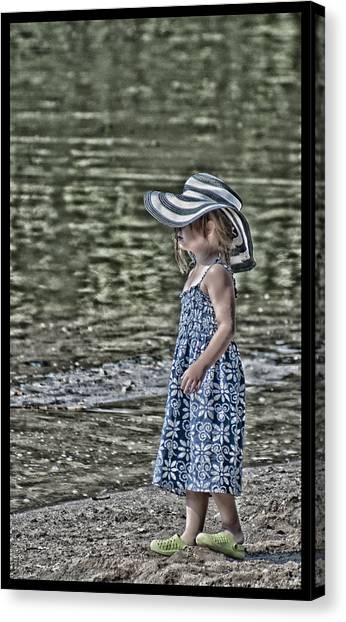 One Summer Day In A Child's  Life Canvas Print