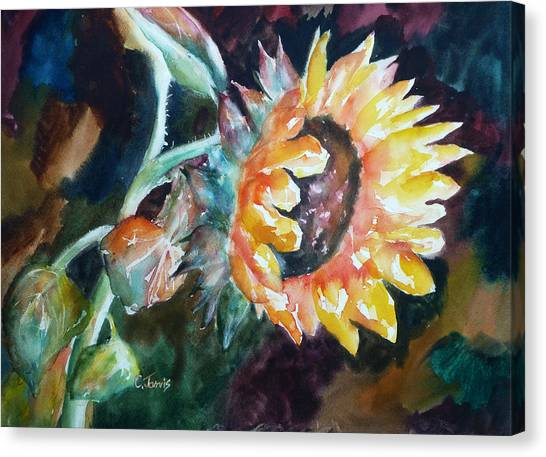 One Sunflower Canvas Print