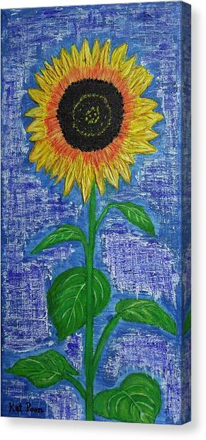 One Sunny Stalk Canvas Print by Kat Poon