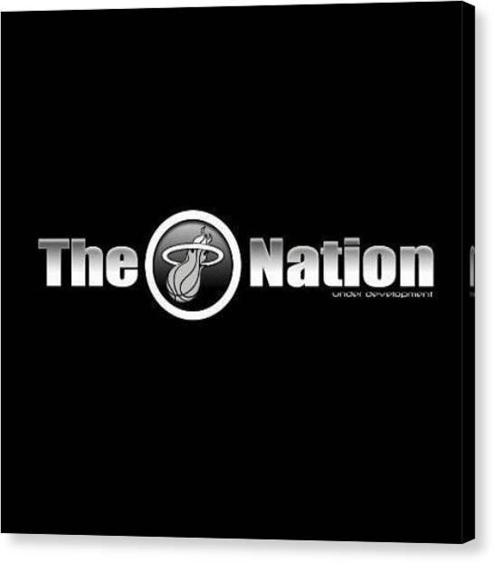 Miami Heat Canvas Print - One Team One City One County One Nation by Heber Aguilar