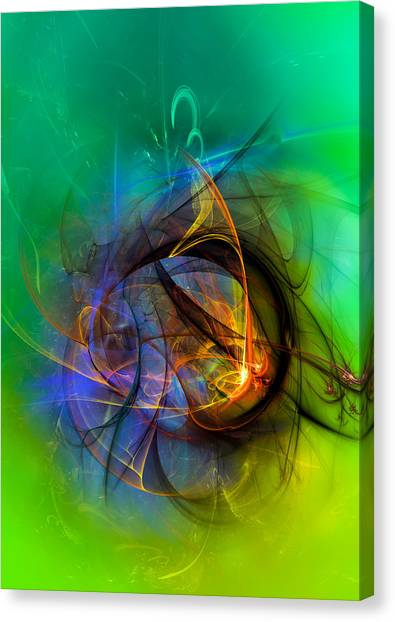 Colorful Digital Abstract Art - One Warm Feeling Canvas Print
