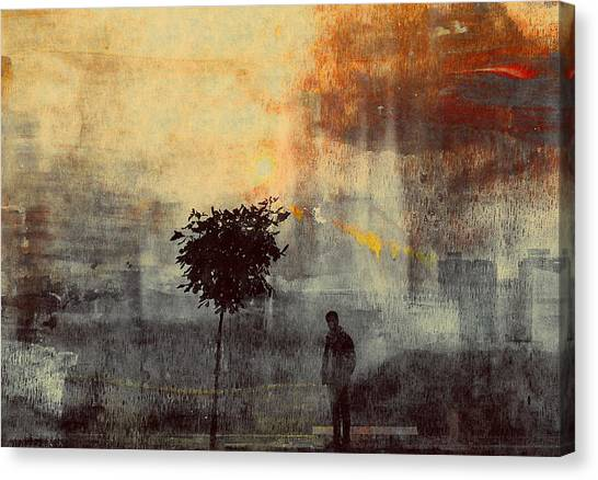 Pollution Canvas Print - One Way (shadows) by Dalibor Davidovic