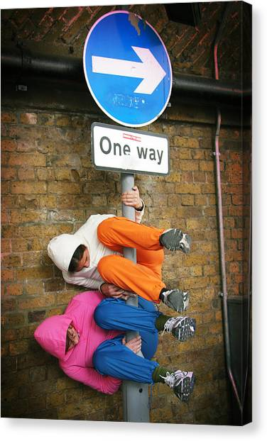 One Way Canvas Print by Stephen Norris