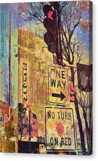 One Way To Uptown Canvas Print