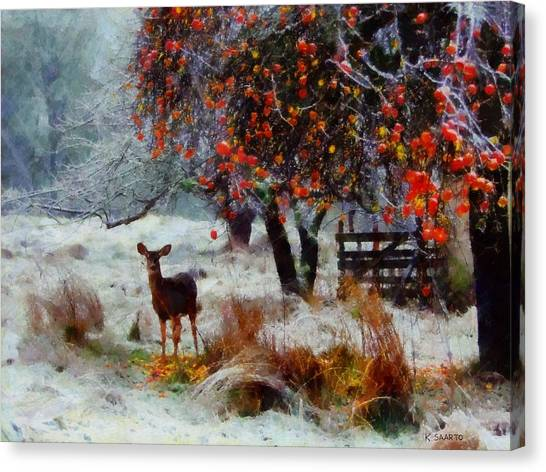 One Winter Morning Canvas Print