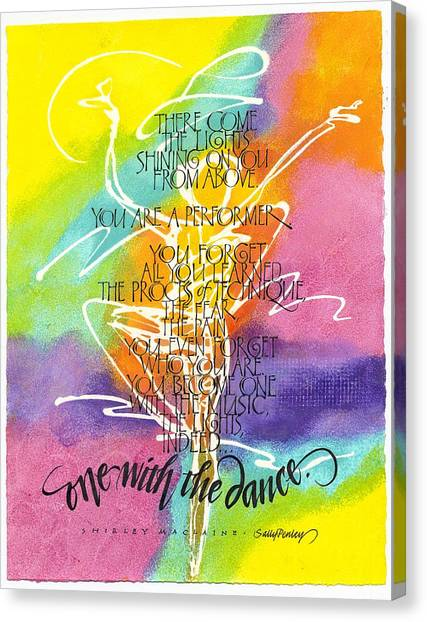 One With The Dance Canvas Print
