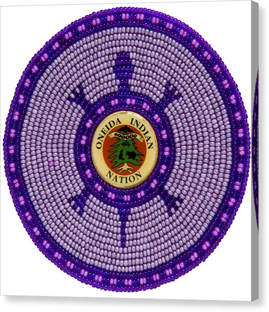 Canvas Print featuring the mixed media Oneida Nation 092108 by Douglas K Limon