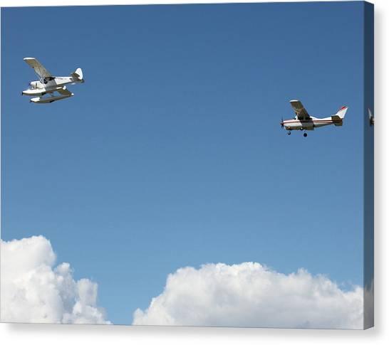 Ongoing Flight  Canvas Print by Mavis Reid Nugent