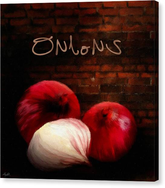 Ingredient Canvas Print - Onions II by Lourry Legarde