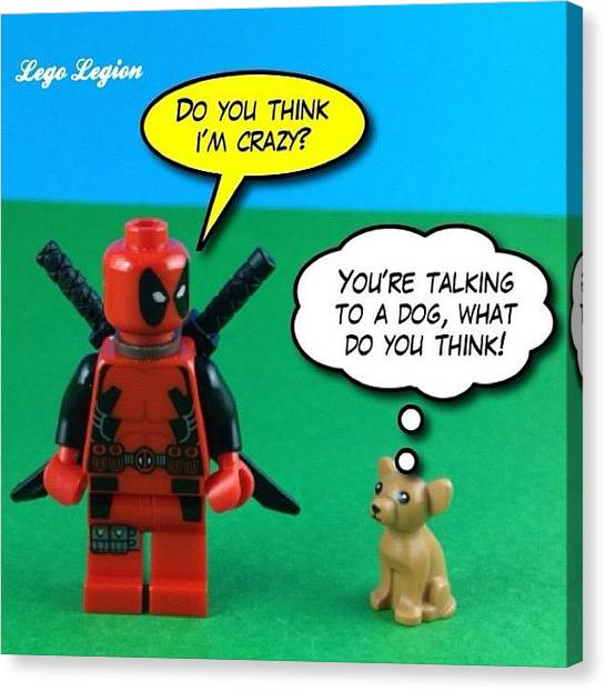 The Legion Canvas Print - Only A Little Insane!  #legolegion by Lego Legion