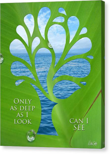 Self Discovery Canvas Print - Only As Deep As I Look Can I See by Nikki Smith