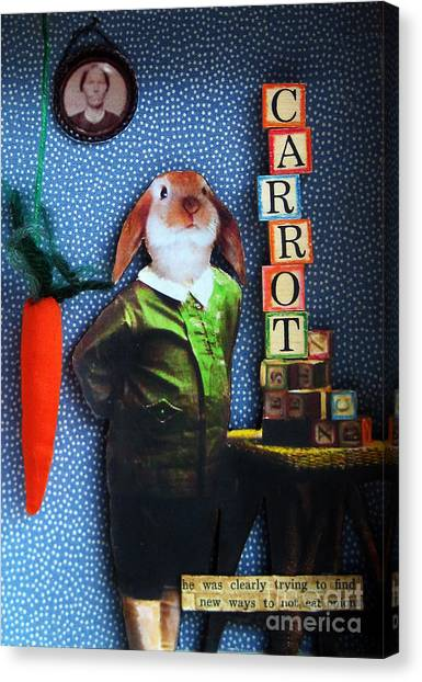 Only Carrots   Canvas Print by Linda Apple