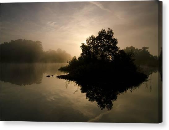 Lake Sunrises Canvas Print - Onogawako Island by Aaron Bedell