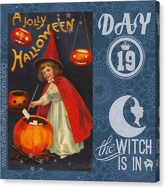 Witches Canvas Print - #ontheblog #today #day19 #free by Teresa Mucha