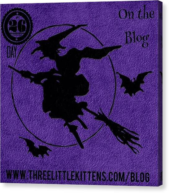 Bat Canvas Print - #ontheblog #today #day26 #free by Teresa Mucha
