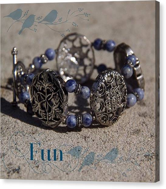 Jewelry Canvas Print - #ontheblogtoday What A Fun Bracelet! by Teresa Mucha