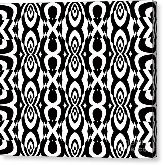 Op Art Pattern Geometric Black White Art No.338. Canvas Print by Drinka Mercep