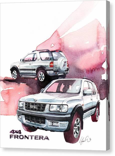 Offroading Canvas Print - Opel Frontera by Yoshiharu Miyakawa