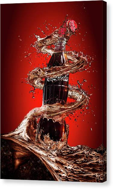 Coca Cola Canvas Print - Open Happiness by Isma Yunta